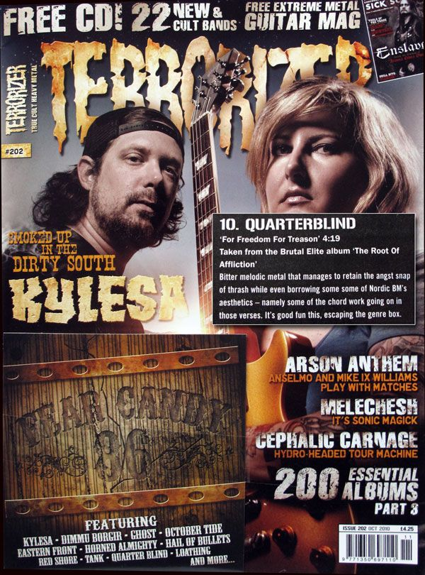 QuarterBlind on Terrorizer Fear Candy Cover Disk - Issue 202